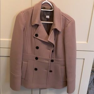 Dusty pink J Crew wool coat